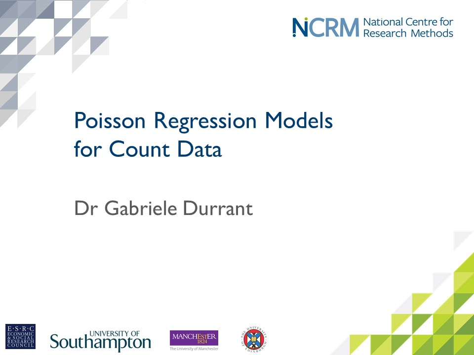 NCRM Online learning resources | Introduction to Poisson